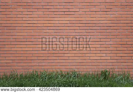 Pattern Of Red Brick Wall For Background And Textured, Red Brick Wall Background. Old Brick Texture,