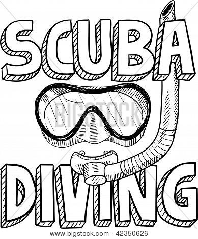 Scuba diving sketch
