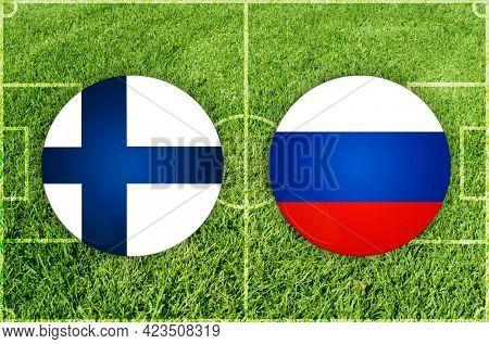 Concept for Football match Finland vs Russia