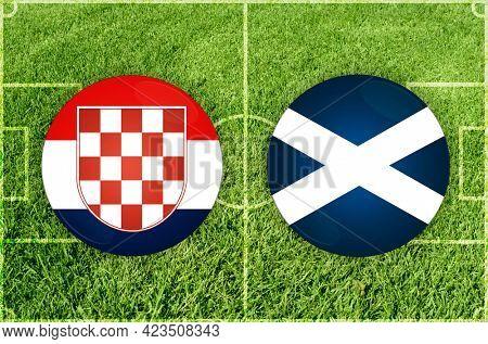 Concept for Football match Croatia vs Scotland
