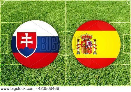 Concept for Football match Slovakia vs Spain
