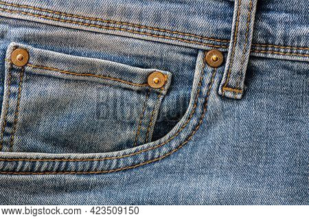 Denim Jeans Pattern, Close Up Textured Jean Background, Detailed Fabric Texture