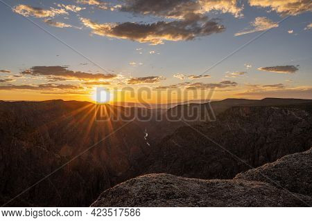 Afternoon Fades To Evening Over Black Canyon Of The Gunnison