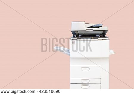 Copier Printer, Close Up The Photocopier Or Photocopy Machine For Scanning Document Printing Sheet O