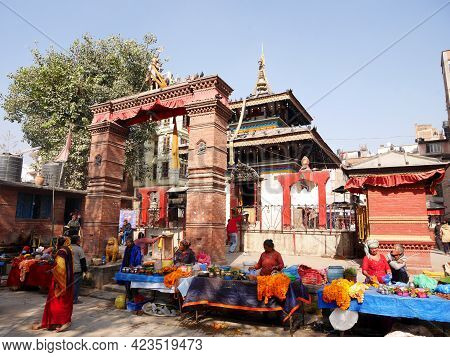 Small Shrine Shiva Temple For Nepalese People And Foreign Traveler Travel Visit Respect Praying And
