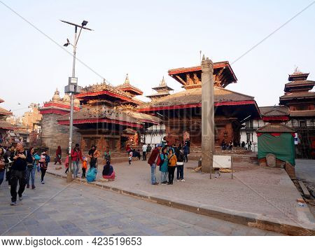 View Landscape Cityscape And Local Life Lifestyle Of Nepali With Foreign Travelers And Nepalese Peop