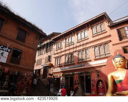 Souvenir Gift Nepalese Shop For Nepali People And Foreign Travelers Travel Visit Shopping In Swayamb