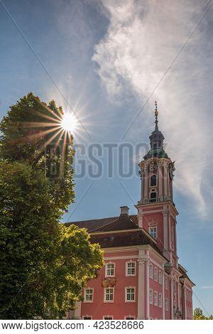 Uhldingen-mühlhofen, Deutschland - June 12, 2020. Pilgrimage Church Birnau On Lake Constance