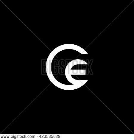 Creative, Simple And Elegant Initial Letter Ce Circle Logo Template In Flat Design Monogram Illustra