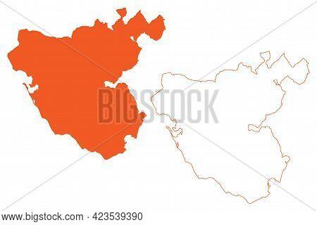 Province Of Cadiz (kingdom Of Spain, Autonomous Community Of Andalusia) Map Vector Illustration, Scr