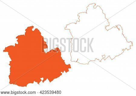 Province Of Seville (kingdom Of Spain, Autonomous Community Of Andalusia) Map Vector Illustration, S