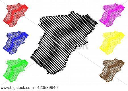Warren County, Commonwealth Of Virginia (u.s. County, United States Of America, Usa, U.s., Us) Map V