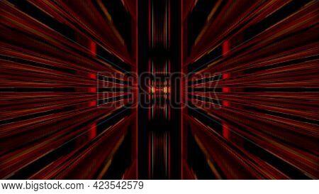 Dynamic 3d Illustration Of Symmetric Shapes On Black Background