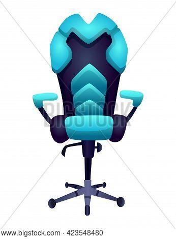 Gaming Equipment. Comfortable Or Ergonomic Armchair For Gaming Entertainment. E-sport Accessorie. El