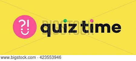 Quiz Vector Sign With Question For Competition, Exam, Smart Show, Kids Game, Interview. Quiz Icon. A