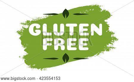 Gluten Free Symbol For Natural Product, Healthy Food, Fresh Food, Organic Product, Vegan Food, Farm