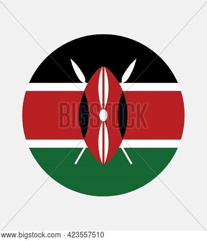 National Kenya Flag, Official Colors And Proportion Correctly. National Kenya Flag. Vector Illustrat