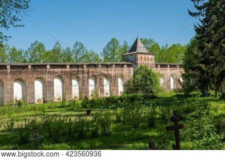 One Of The Corners In The Borisoglebsky Monastery Yaroslavl Region On A Summer Day, Russia.