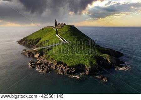 Ballycotton Lighthouse In County Cork Is One Of Only Two Black Lighthouses In Ireland