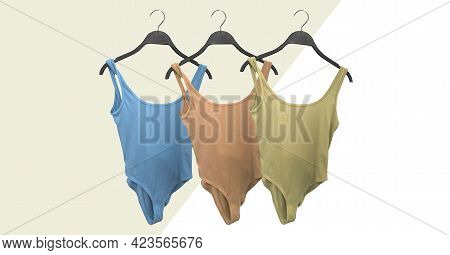 One-piece Classic Swimsuits. Bathing Suit. Stringbody Women Body. Ladies Clothes For Summer Vacation