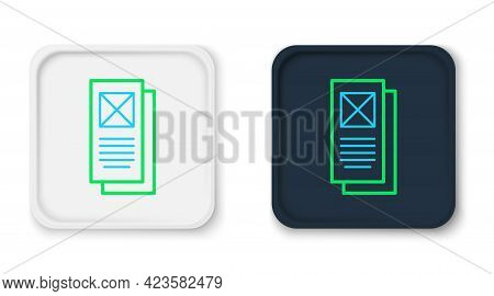 Line Browser Window Icon Isolated On White Background. Colorful Outline Concept. Vector