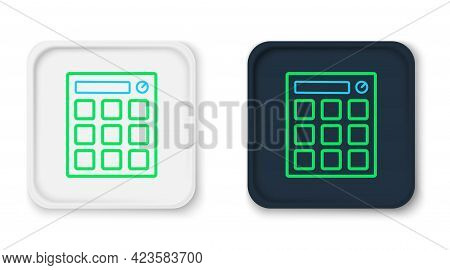 Line Drum Machine Music Producer Equipment Icon Isolated On White Background. Colorful Outline Conce