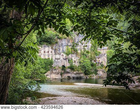 Castelbouc village in the Gorges du Tarn in France