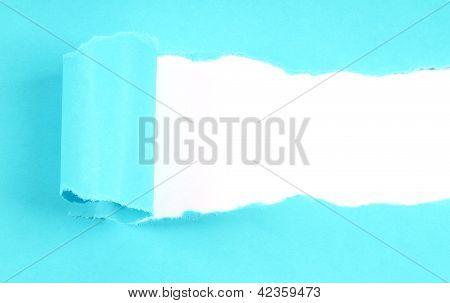 Blue tore paper