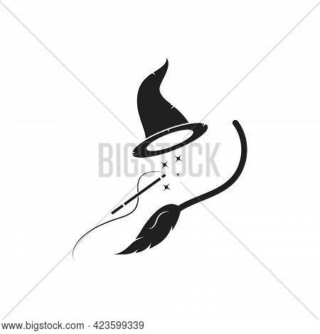Wizard Hat Vector Icon Illustration Design