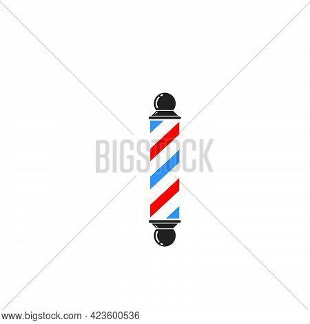 Barber Pole Icon Vector Illlustration