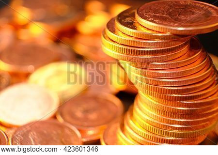Coins On Table Background And Saving Money And Business Growth Concept,finance And Investment Concep