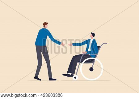 Diversity And Inclusive In Workplace, Job And Career Opportunity For Disability People Concept, Hr O