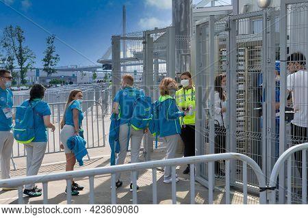 Pass For Volunteers To Zenit Stadium During Euro 2020 Championship Petersburg