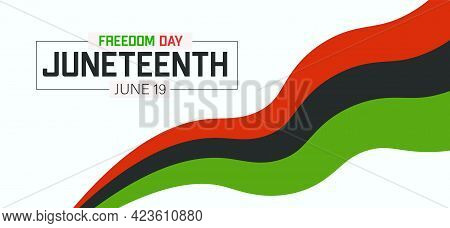 Juneteenth Freedom Day Banner. African American Emancipation Day.