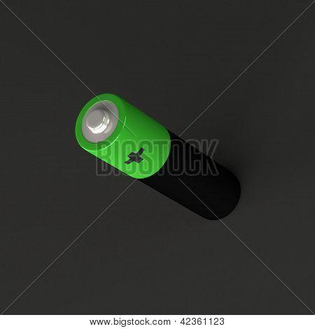 Battery on black
