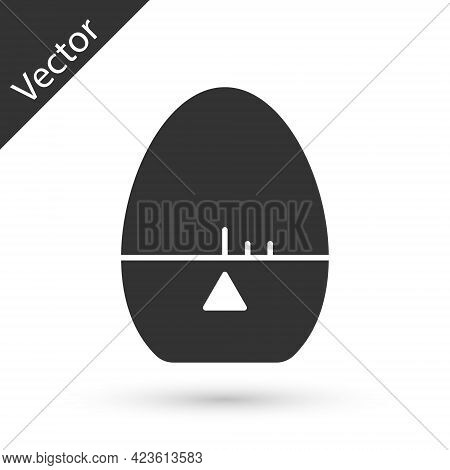 Grey Kitchen Timer Icon Isolated On White Background. Egg Timer. Cooking Utensil. Vector