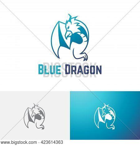 Flying Dragon Eagle Hawk Falcon Game Esport Team Logo