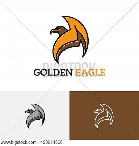 Golden Eagle Hawk Falcon Mighty Predator Wildlife Logo