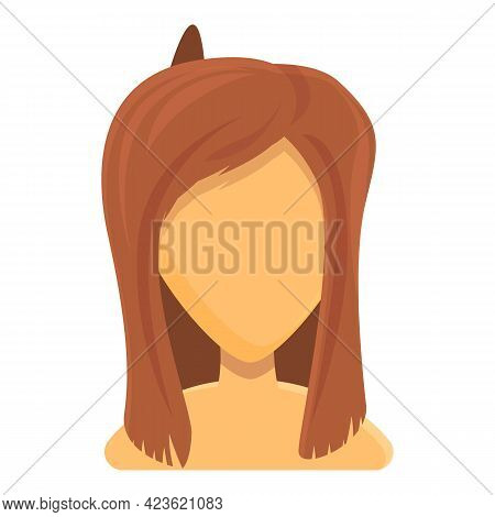 Cute Women Haircut Icon. Cartoon Of Cute Women Haircut Vector Icon For Web Design Isolated On White