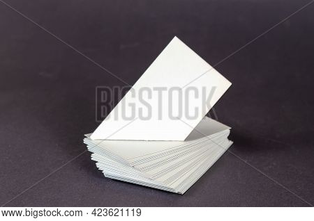 Abstract Geometric Composition Of White Quadrangles On A Gray Background. Various Geometric Shapes W