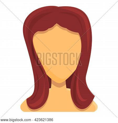 Silky Hair Icon. Cartoon Of Silky Hair Vector Icon For Web Design Isolated On White Background