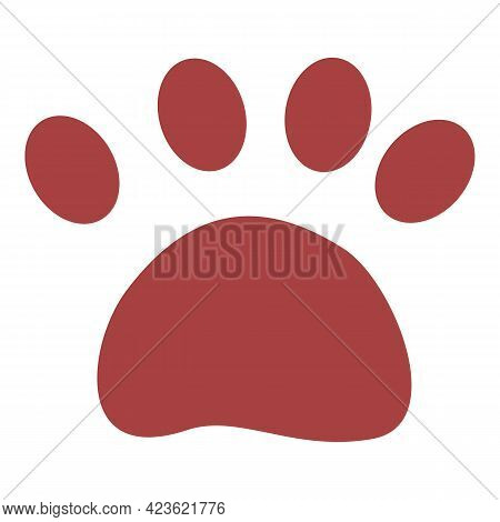 Bear Trail Icon. Cartoon Of Bear Trail Vector Icon For Web Design Isolated On White Background