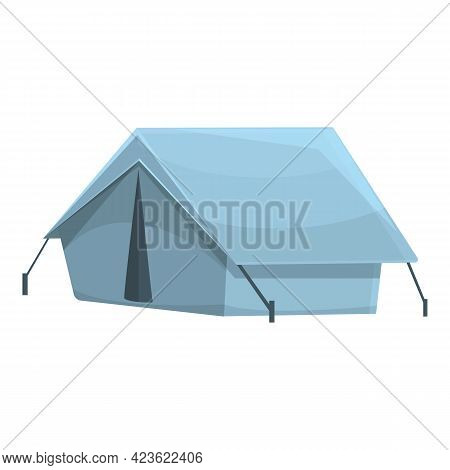 Camping Tent Icon. Cartoon Of Camping Tent Vector Icon For Web Design Isolated On White Background