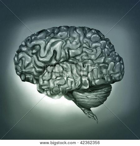 menschliche Gehirn digitale Malerei