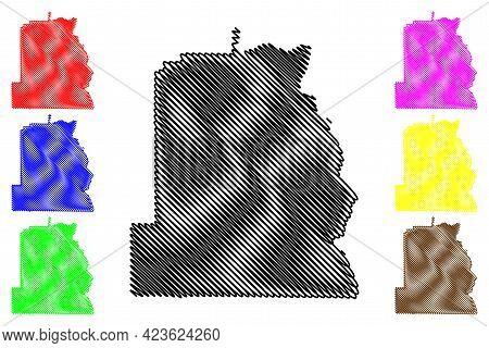 Asotin County, State Of Washington (u.s. County, United States Of America, Usa, U.s., Us) Map Vector