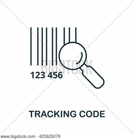 Tracking Code Line Icon. Simple Outline Illustration From E-commerce Collection. Creative Tracking C