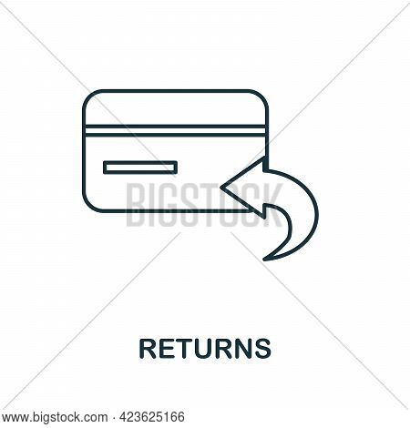 Returns Line Icon. Simple Outline Illustration From E-commerce Collection. Creative Returns Icon For