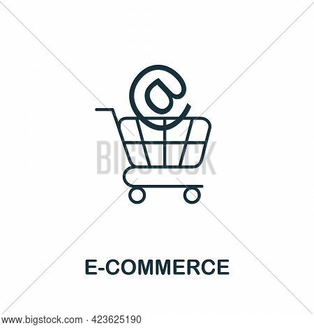 E-commerce Line Icon. Simple Outline Illustration From E-commerce Collection. Creative E-commerce Ic