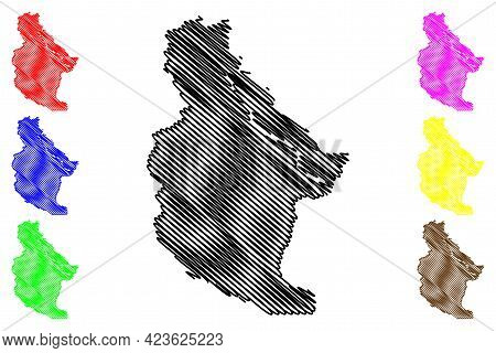 Chelan County, State Of Washington (u.s. County, United States Of America, Usa, U.s., Us) Map Vector
