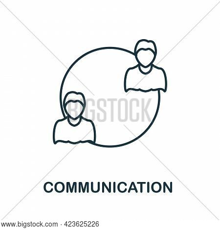 Communication Line Icon. Creative Outline Design From Artificial Intelligence Icons Collection. Thin